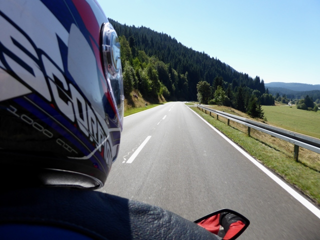 Jen's view as pillion...