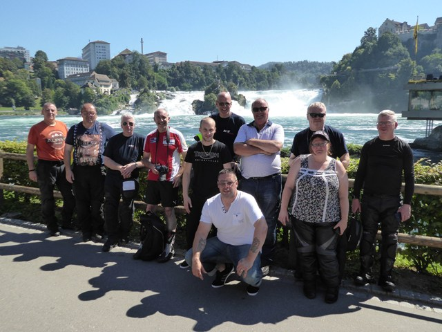 Those who rode to the High-Rhine Waterfalls in Switzerland