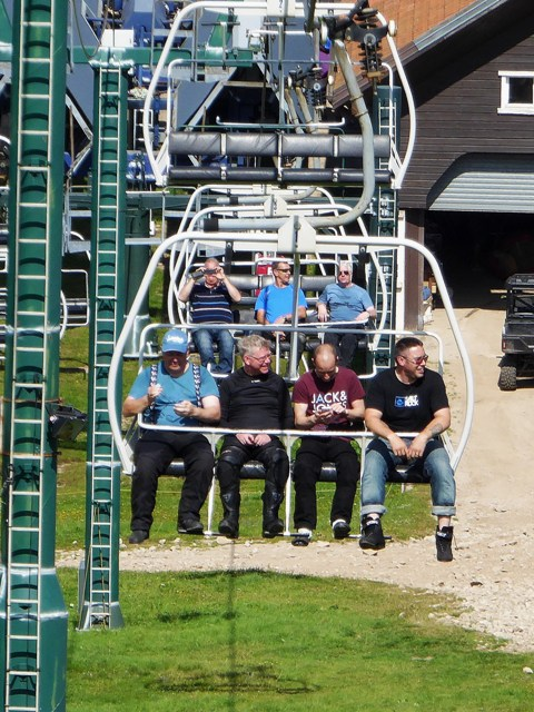 At the top we take the ski lift up...