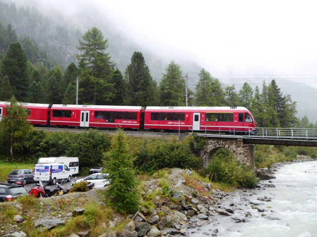 The Bernina Express stops at our hotel