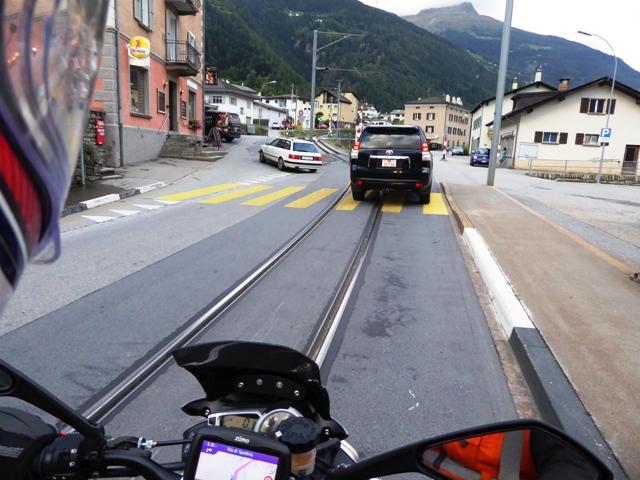 Ride along train tracks...