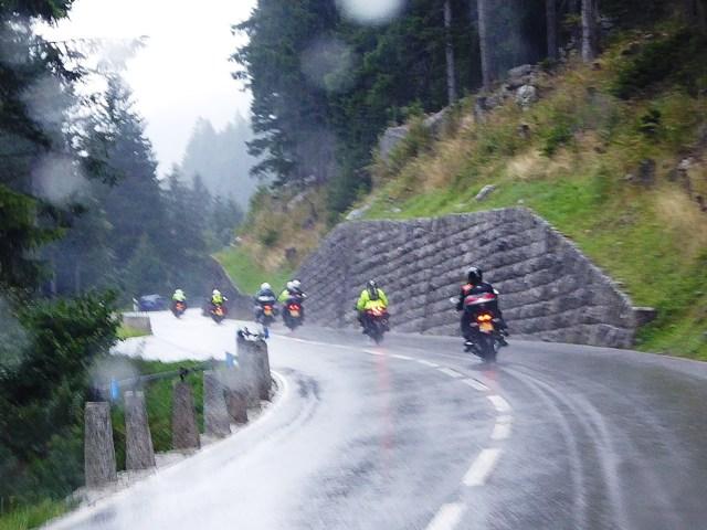 Wet roads as we ride the Susten Pass