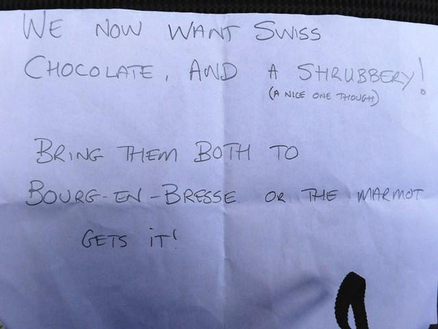 Swiss Chocolate & a Shrubbery !!