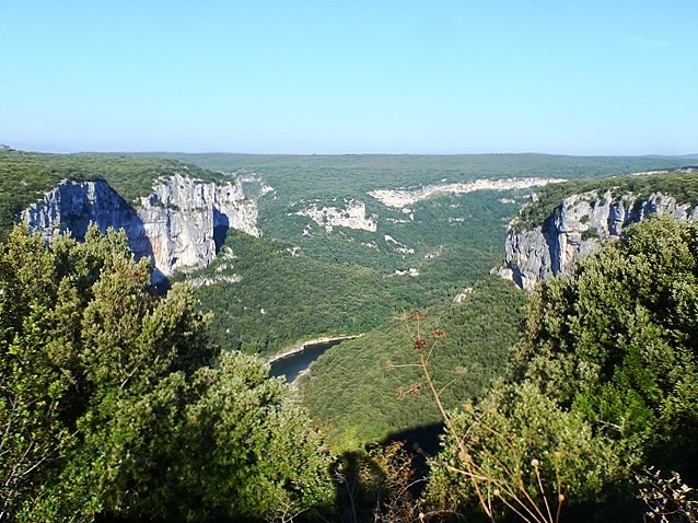We next ride the Gorges of the Ardeche