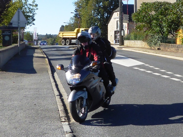 Andy & Ros on their Honda Blackbird