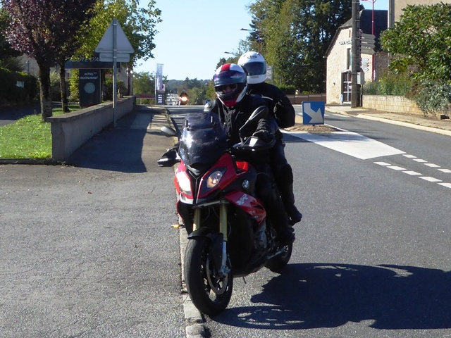 Steve & Kirsty on their BMW XR1000