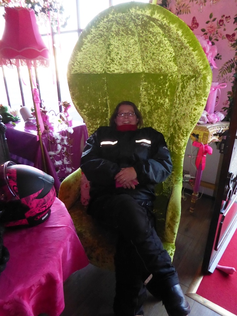 Louise in the big chair !