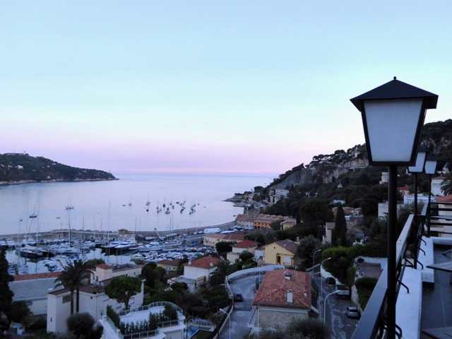 The view from our hotel in Villefranche-sur-Mer