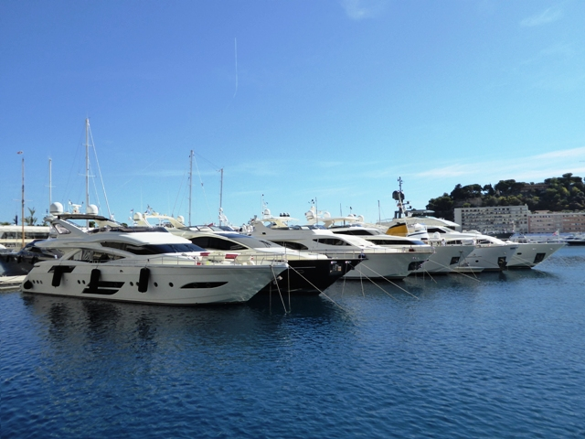 Fabulous yachts in Monte Carlo