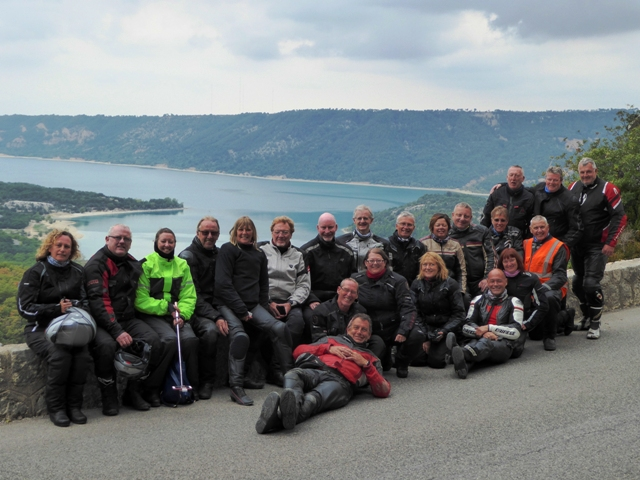 The Group at the end of the Verdon Gorges