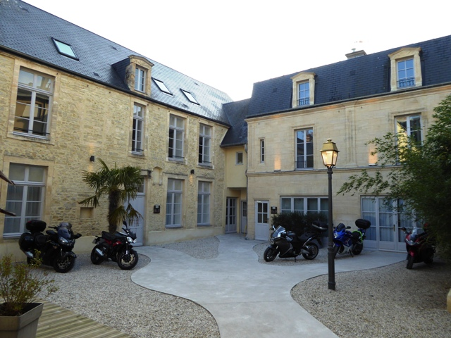 Parking in the private courtyard