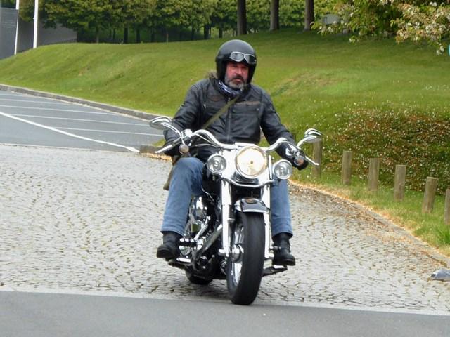Keith on his Harley Fat Boy