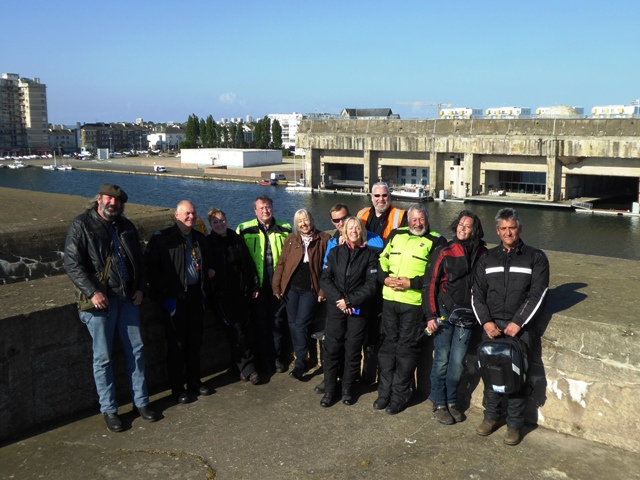 The group opposite the U-boat pens at St Nazaire