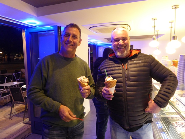 John & Mike with ice creams