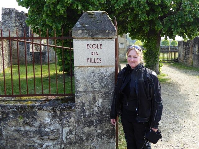 Josie outside the Girls' School