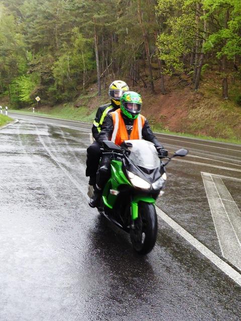 "Mark & Rachel ""TEC"" on their Kawasaki Z1000SX"