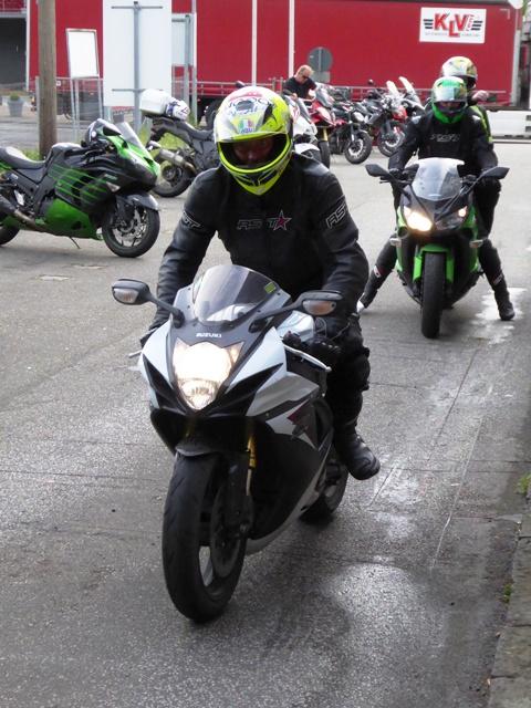 Nick on his Suzuki GSXR750