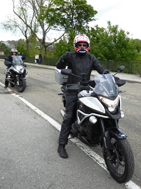 Russell on his Honda Crosstourer