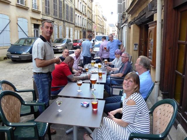 Drinks - outside - before dinner!