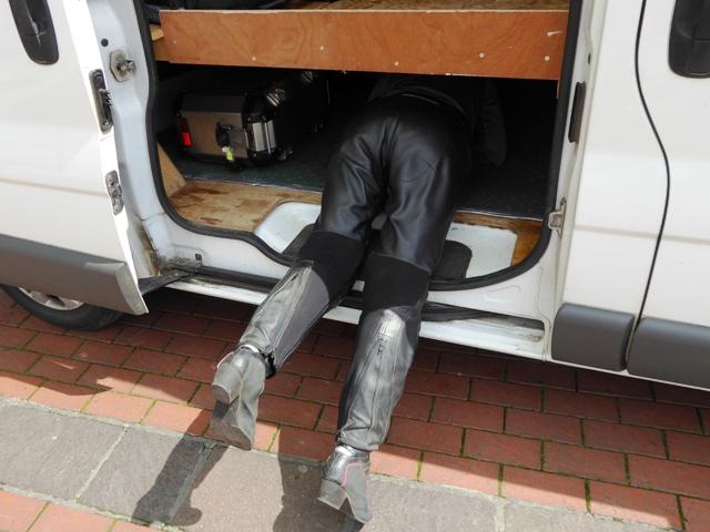 "Kirsty ""Does my bum look big in this van?"" !!"