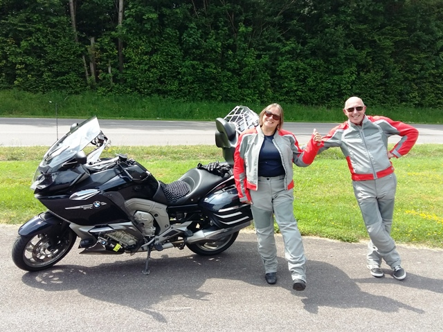 Sharron & Kieron Haines on their BMW R1200RS
