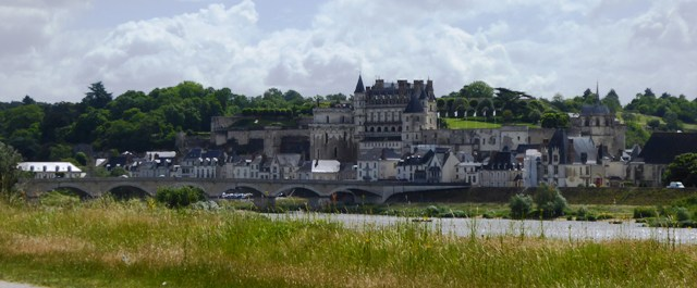 The view of the Chateau Royal as we leave Amboise