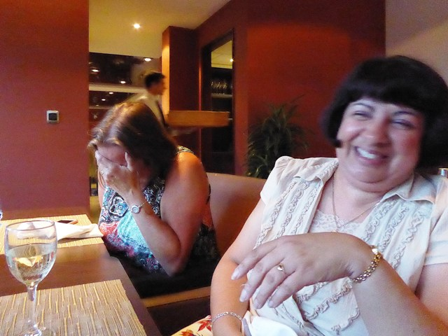 as she & Yvonne are laughing too much!!!!