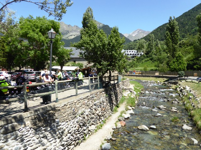 Lunch stop in the Pyrenees