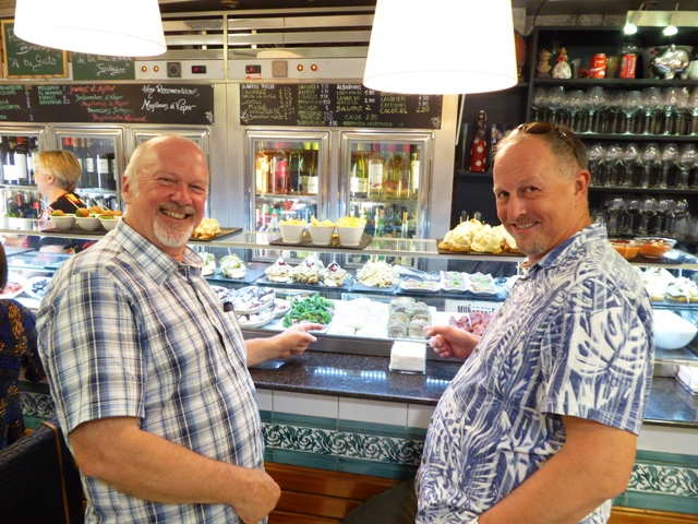 Rod & David choosing tapas