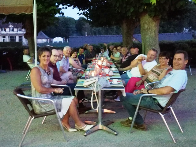 Drinks and dinner outside - photo courtesy of John Savage