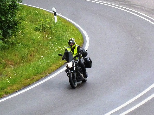 Steve on his NC 750 S