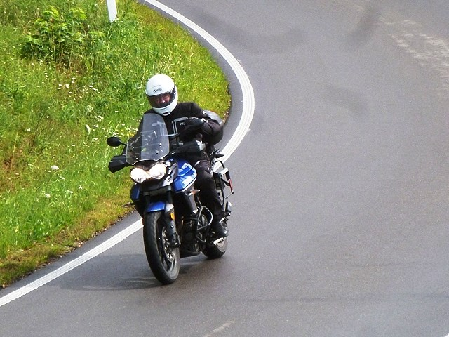Craig on his Tiger 800