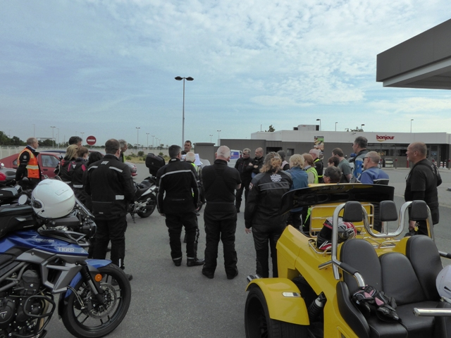 We start with a pre-tour briefing at Eurotunnel