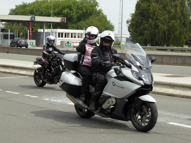 Tony & Di Shepherd on their BMW 1600GT