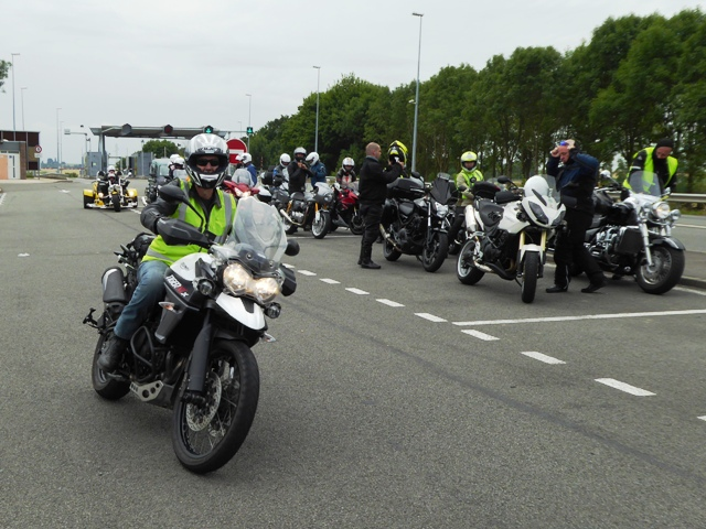 Gordon sets off on his Tiger 800
