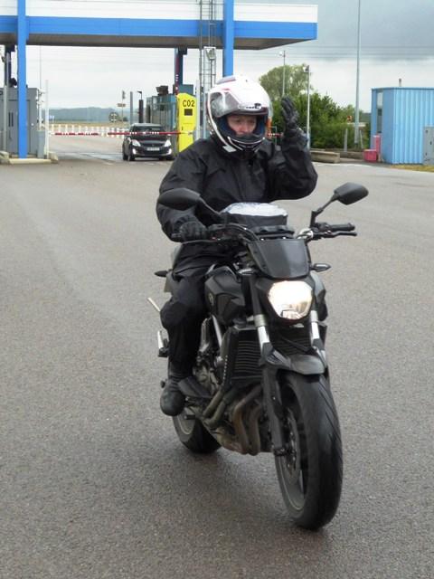 Bex on her Yamaha MT-07