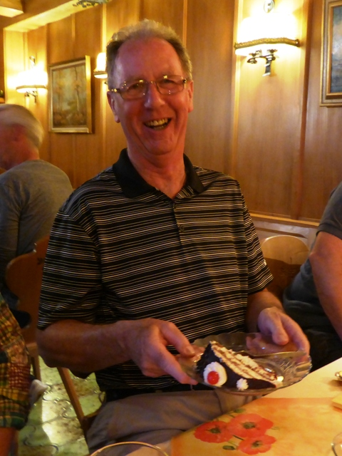 Jim with the Black Forest Gateau