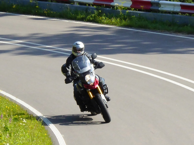 John Y on his Suzuki V-Strom 1000