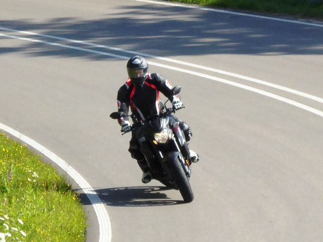Pete on his Suzuki GSXS 750