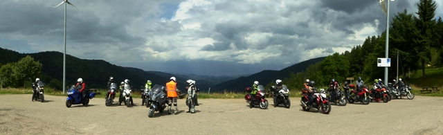 The group at a viewing area in the Vosges Mountains