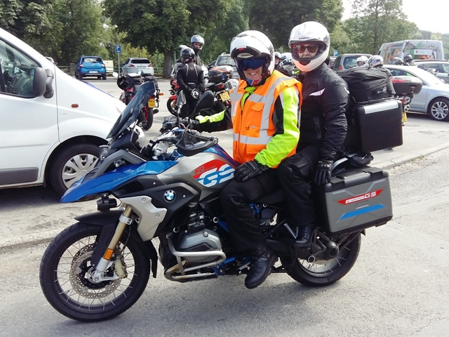 Chris & Reece on BMW R1200GS