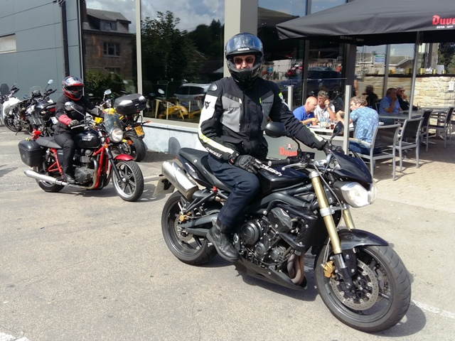 Steve on his Street Triple