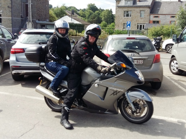 Andy & Ros on their Blackbird