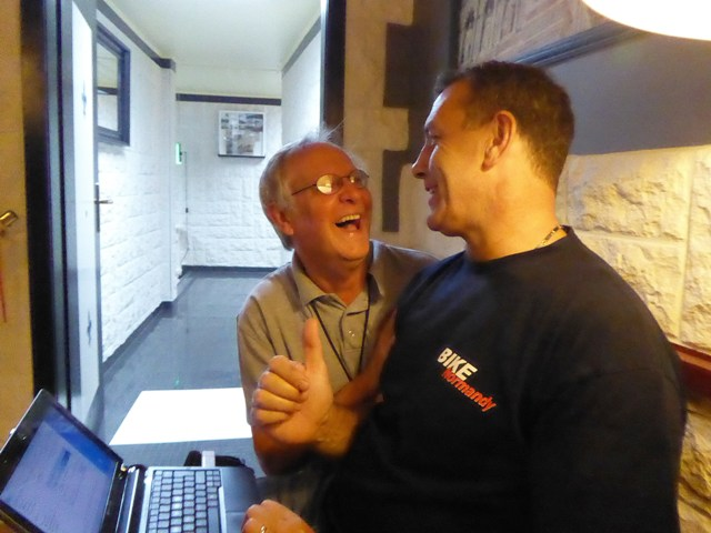 """Parker"" & John having a laugh!"