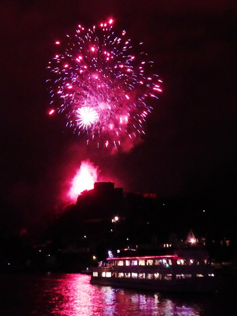We arrive at Koblenz - a spectacular display!