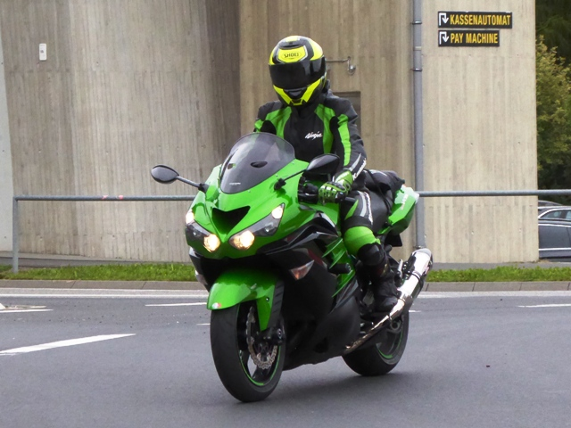 Keith arriving at the Nurburgring