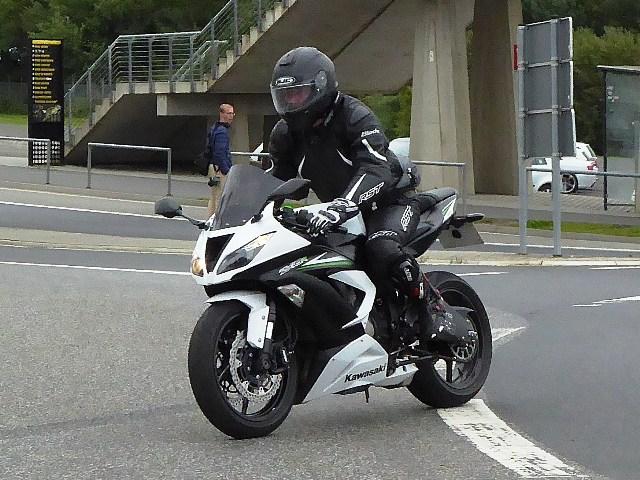 Andy A on his Kawasaki ZX6