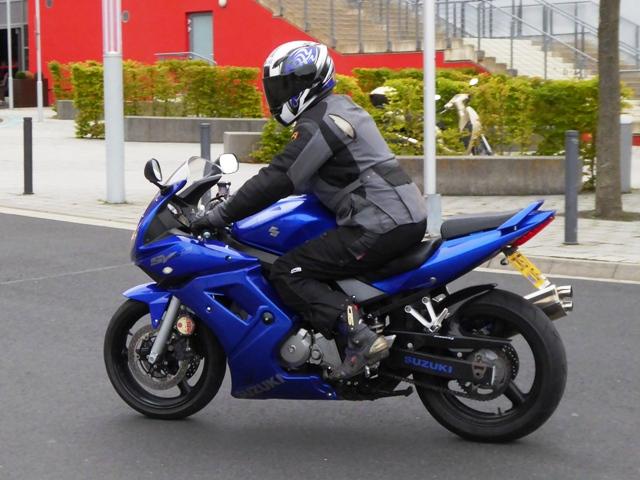 Alun on his Suzuki SV650
