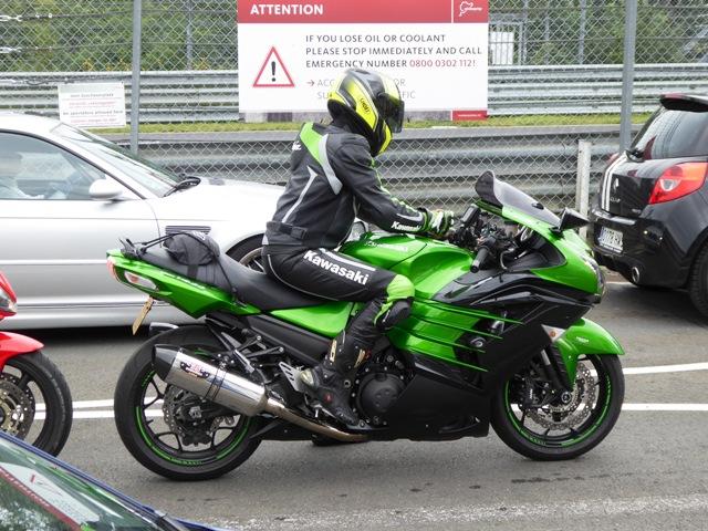 Keith on his Kawasaki ZZR1400