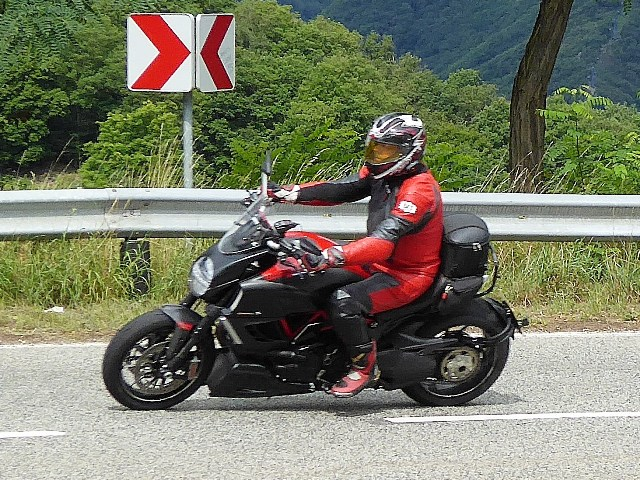 Orry on his Ducati Diavel